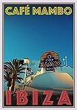 StickIt2Me Cafe Mambo Ibiza Art Deco Retro Reise-Poster A4