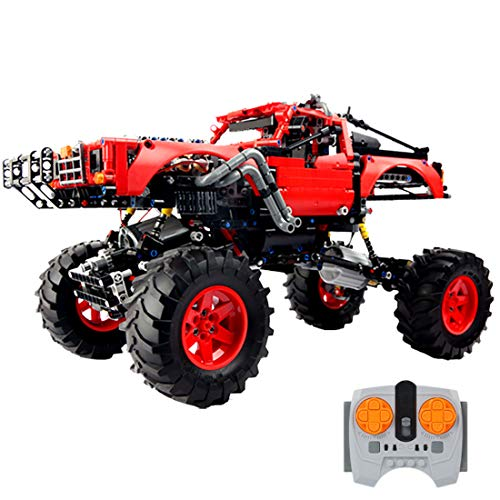 Onenineten Technik Geländewagen Bausteine, 2.4Ghz/APP Mobile Geländewagen Modell Bauset 1333 Teile für Fortgeschrittene Konstruktionsspielzeug Kompatibel mit Lego Technic