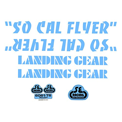 SE Bikes So Cal Flyer Decal Set Null Blue