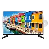 MEDION E12845 69,9 cm (27,5 Zoll) HD Fernseher (HD Triple Tuner, DVB-T2 HD, integrierter DVD-Player, CI+, Mediaplayer, 3 x HDMI, SCART, VGA, USB)