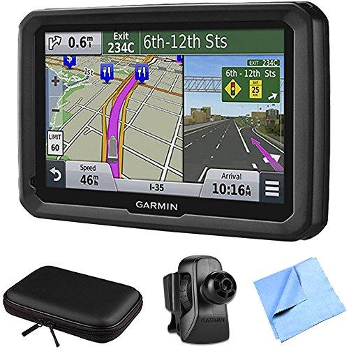 """Garmin dezl 570LMT 5"""" Truck GPS Navigation Lifetime Map/Traffic Vent Mount/Case Bundle - Includes 5"""" Truck GPS Navigation System, Air Vent Mount, Soft Case and 1 Piece Micro Fiber Cloth"""