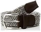 Cortefiel Cinturon Trenza Textil, Gris (Gris Oscuro 43), 95 (Tamaño del Fabricante: 95) para Hombre