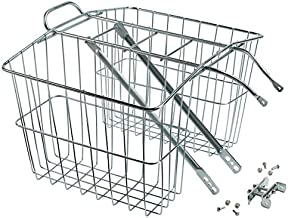 Wald 520 Rear Twin Bicycle Carrier Basket (13.5 x 6.25 x 11), Silver