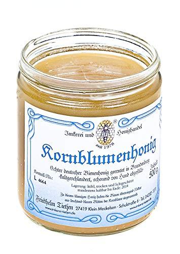 Kornblumenhonig 500g – kräftig aromatisch, naturbelassener Honig (von Imkerei Nordheide) | Deutscher Honig vom Imker