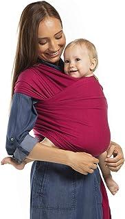 Portabebés Boba, el original Portador de Bebés Elástico, Perfecto para Bebés Recién Nacidos y Niños de hasta 35 lbs. (Sangria)