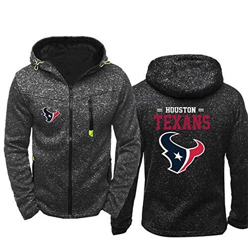 SHR-GCHAO Männer Langarm-Kapuzenshirt, Houston Texans NFL Baseball-Trikot Football Team Pulloverhoodies, Herbst-Winter-Beiläufige, Angenehm Zu Tragen,S