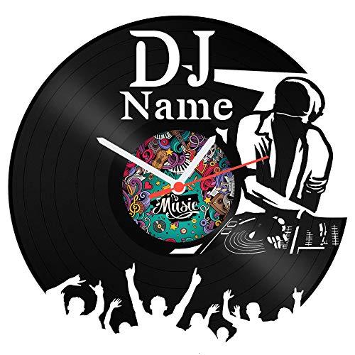 Schallplattenuhr DJ aus Vinyl mit kostenloser Gravur Vinyl-Uhr Upcycling Design Uhr Wand-Deko Vintage-Uhr Wand-Dekoration Retro-Uhr Made in Germany