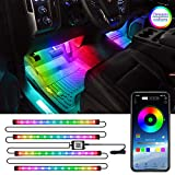 LEDCARE Interior Car LED Lights with APP Control, RGBIC Dreamcolor Chasing Car LED Strip Lights, 16 Million Colors Waterproof Under Dash Lighting Kits, Sync to Music Car Neon Accent Lights, DC12V