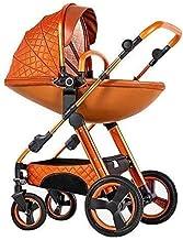 Hmvlw Silla de Paseo 3-en-1 Cochecito de bebé, de la cáscara de Huevo de Alta Capacidad for Sentarse y acostarse Dos vías niño sillón con Cuna Combo cochecitos 0-3 años
