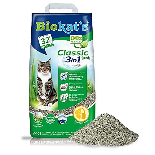 Biokat's Classic fresh 3in1 con profumo di primavera - Lettiera agglomerante con 3 diverse dimensioni di grani - 1 sacco (1 x 10 L)