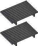 Lote de 20 tiradores para muebles de cocina de acero inoxidable, mango de mueble negro en T, barra de cocina (hule centers:160 mm)