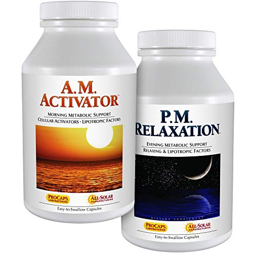 Andrew Lessman A.M. Activator and P.M. Relaxation Kit 90 Capsules of Each – A.M. Activator Promotes Energy and Fat Metabolism While P.M. Relaxation Encourages a Restful Night