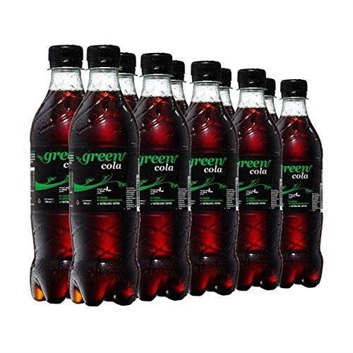 Green Cola Getränk Aspatamefrei Ohne Konservierungsstoffe Nur Natürliche Aromen Mit Stevia u. Saccarose inkl. Pfand (PET Flasche 0,5l 10er Pack)