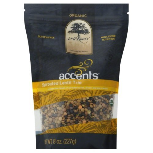Truroots Import Sprouted Lentil Trio 8-Ounce online shopping truRoots Organic by