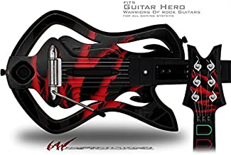 WraptorSkinz WZ on Black Decal Style Skin - fits Warriors Of Rock Guitar Hero Guitar (GUITAR NOT INCLUDED)