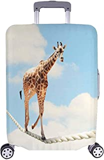 InterestPrint Funny Animal Giraffe Travel Luggage Cover Suitcase Baggage Protector Fits 22