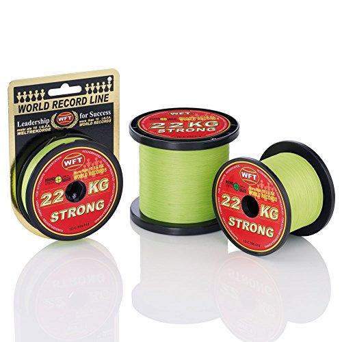 WFT KG Strong Schnur 300m 0,12mm 15kg, Farbe:Gelb