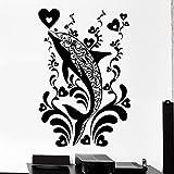 WERWN Calcomanías de Pared de Delfines océano océano Tema Estilo decoración Animal Marino Arte Mural Vinilo Ventana Pegatinas Dormitorio de los niños decoración de la guardería