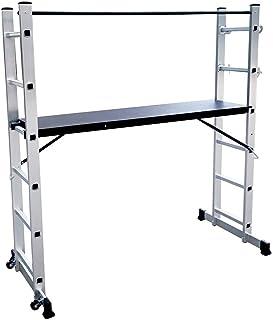 LZQ Escalera Andamio de Aluminio Multipropósito 3 en 1 -