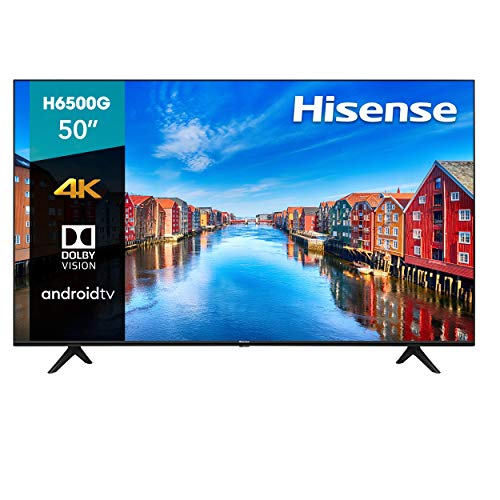 Hisense 50' H6500G 4K UHD Android TV, Control de Voz, HDR Dolby Vision (50H6500G, 2020)