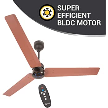 atomberg Renesa 1200 mm BLDC Motor with Remote 3 Blade Ceiling Fan(Brown and Black, Pack of 1)