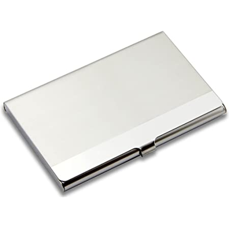 SAISAN Steel Credit Card Holder Men And Women Business ID Credit Card Holder Case Cover