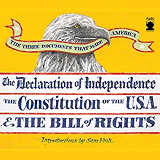 The Three Documents That Made America audiobook cover art