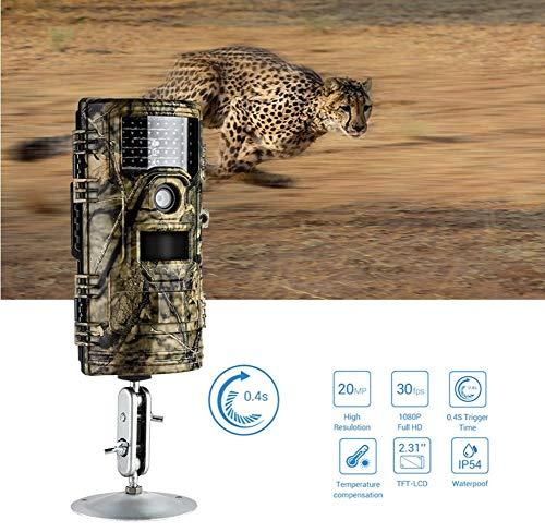 Wildkamera Fotofalle 20MP 1080P 30Fps Spielkameras 1920X1080p Für Wildlife Monitoring & Home Security IP 54 Wasserdichtes Design Jagdkamera
