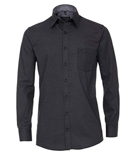 Casa Moda - Comfort Fit - Bügelleichtes Herren Hemd mit Muster (493312900), Größe:L, Farbe:Anthrazit (750)