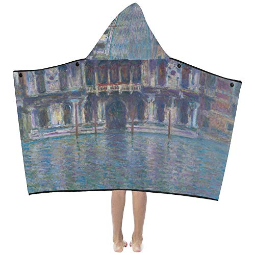 Kids Napping Blanket Monet Water City Building Venice Palazzo Da Mula Kids Hooded Blanket