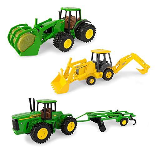 TOMY John Deere Deluxe Vehicle Value Toy Set  Pack of 3