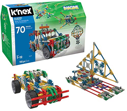 K'NEX 70 Model Building Set - 705 Pieces - Ages 7+ Engineering Education Toy (Renewed)