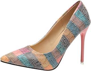 c9608da5 Zapatos Mujer,Moda de la Mujer Tacones Delgados Zapatos Salvajes Mixtos  Colores Bajos Zapatos de
