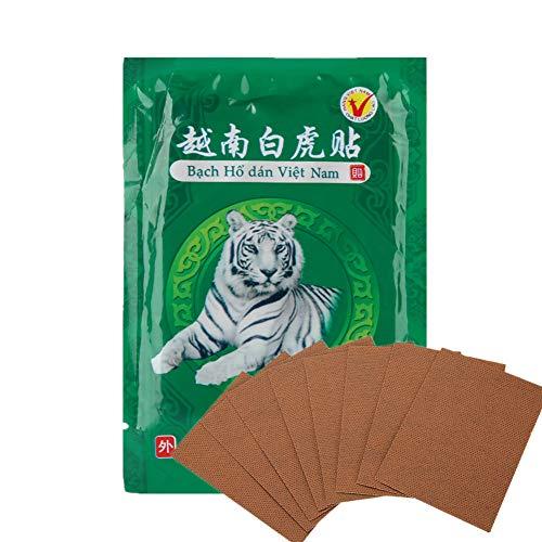 Yeso de bálsamo de tigre,80 piezas de parche para aliviar el dolor, yeso de bálsamo de tigre blanco, para el cuello,el hombro,la cintura y la artritis,para aliviar el dolor, parches de yeso