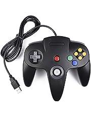 miadore - Mando retro para N64 N64 Classic USB Controlador Gamepad Joystick, Controlador de Juego para N64 System Raspberry Pi/Windows/Mac/Linux, color negro