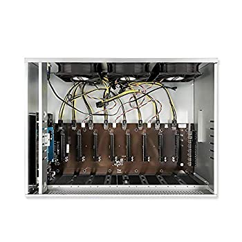 soontech Mining Rig 8 GPU Complete Miner Rig Mining Machine System for Crypto Coin Currency Mining GPU Miner Including Motherboard  Without GPU  CPU SSD RAM PSU Case with Cooling Fans
