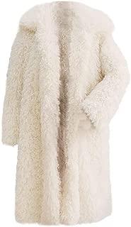 aliveGOT Women's Warm Fuzzy Fleece Lapel Long Cardigan Coat Faux Fur Outwear