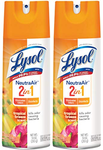 Lysol Disinfectant Spray - Neutra Air™ Tropical Breeze 10 oz (Pack of 2)