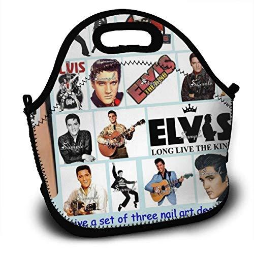 MaoMaoYongHui El-vis Pre-sley Personalisierte leichte Lunch-Tasche Handtasche für Kinder Reißverschluss für die Schultasche