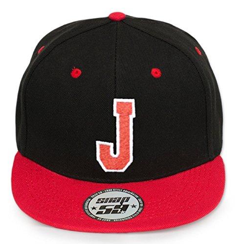 4sold ABC Rot Schwarz Cap Snapback Cappy Caps Mütze Aufschrift Beanies Basecap CRO (J)