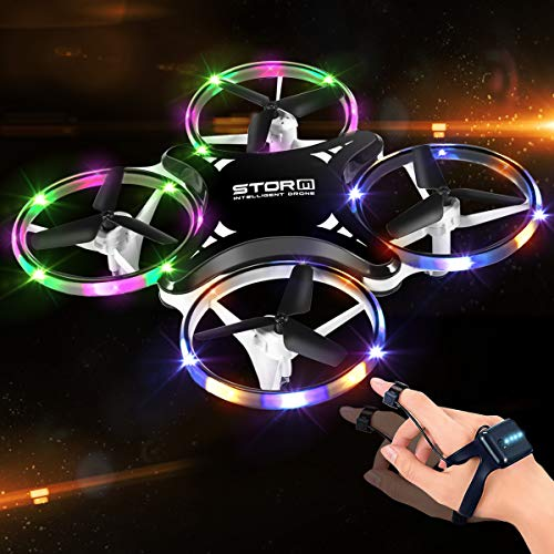 Mini Drone for Kids, 2.4G Gravity Sensor drone for Kids and Beginners, Infrared Obstacle Avoidance, Hand Control, Throw to Fly, Altitude Hold, 3D Flips & Cool Light, Toys for Boys and Girls