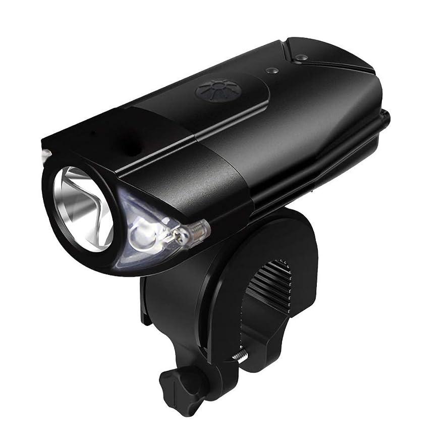 険しいヘルメットあざKTH USB自転車ライトセット充電式、ロード&マウンテンバイク用LEDヘッドライトコンビネーション、