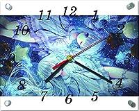 4Y705 てぃんくる ガラス製 置/掛 時計 20×25cm