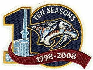 Nashville Predators 10th Anniversary Patch (2007-08)