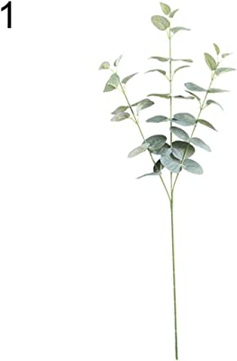 bromrefulgenc Artificial Eucalyptus Branches Leaves - 1Pc Plant Leaves Eucalyptus Garden DIY Party Home Wedding Craft Decor - Green