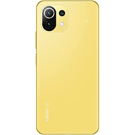 Xiaomi Mi 11 Lite 5G 6+128GB SIMフリー スマートフォン シトラスイエロー 【日本正規代理店品】 SIMバンドルモデル
