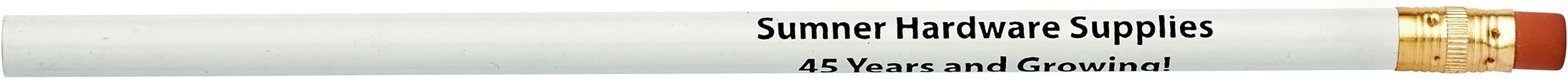 Pencil Guy Promotional Personalized Imprinted Round Pencils White 144 to a box Personalized