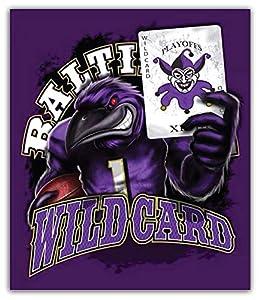 Sport Baltimore Ravens Wild Card NFL Car Bumper Sticker Decal 4'' X 5''