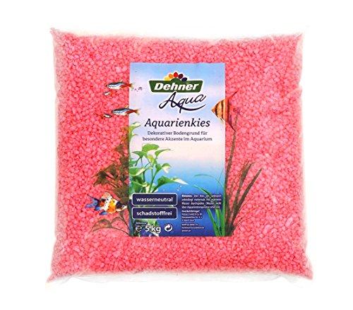Dehner Aqua Aquarienkies, Körnung 4 - 6 mm, 5 kg, pink