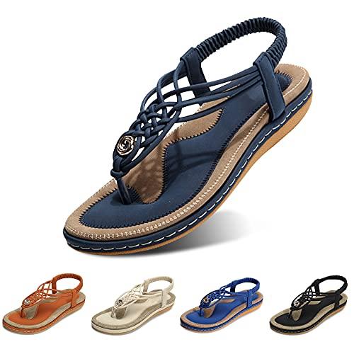 gracosy Sandales Plates Femmes, Chaussures Été...